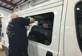 Custom Van Window Installation
