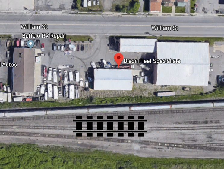 Bison Fleet Specialists is in close proximity to the railroad tracks in Buffalo and CSX