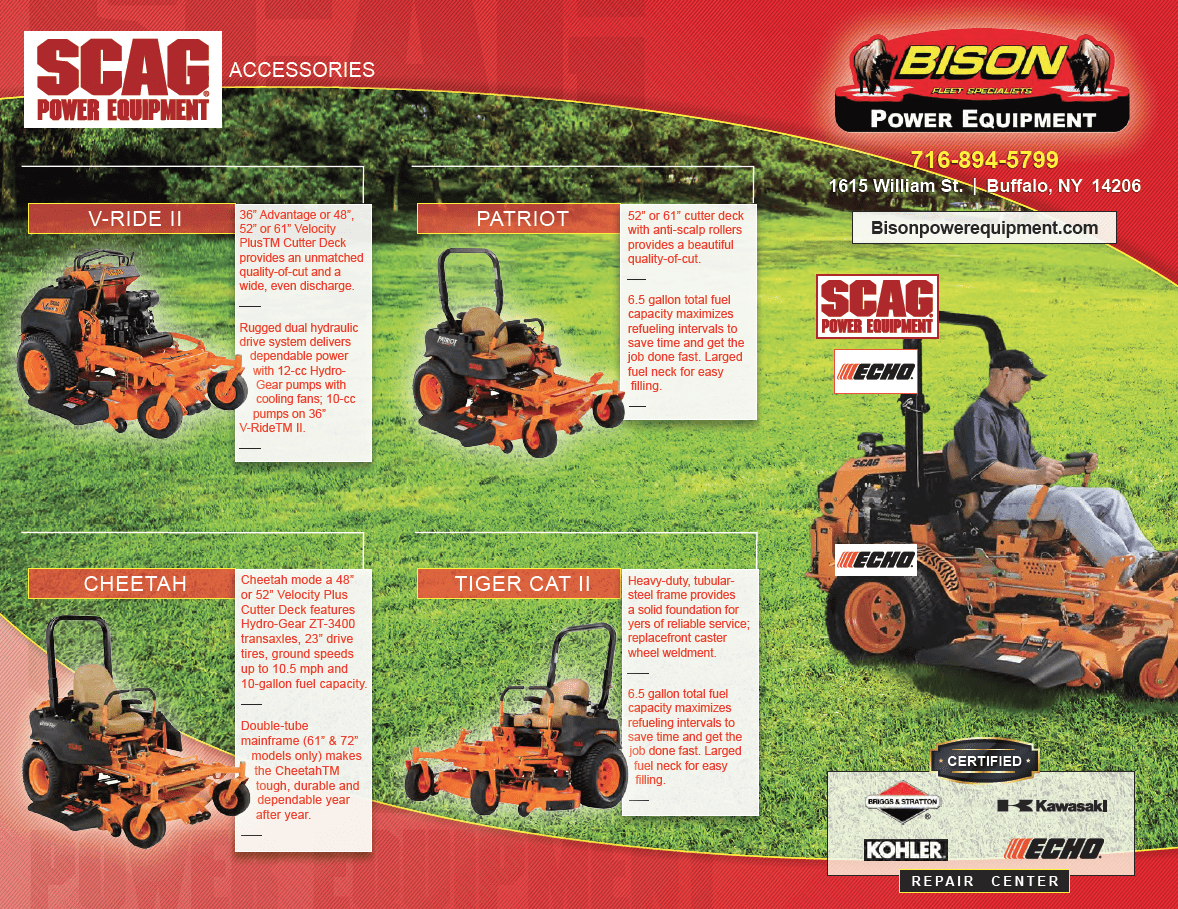 Scag and Echo Lawn Mower Repair Buffalo, NY | Bison Fleet Specialists